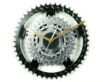 Wall Clock Bike Clock Bicycle Clock Cyclist Gift Wall Art Decor Handmade Gift Idea Sprocket Clock Bike Parts Modern Clock Cycling Decor