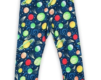 Baby Leggings Shooting Stars in Space, unisex