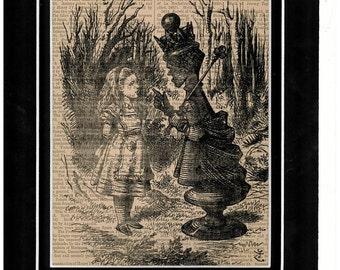 Alice In Wonderland vintage dictionary art