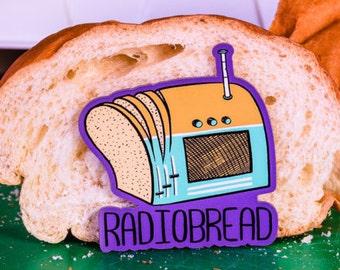 Radiobread Magnet - Rock, Band, 90s, instagram, funny, pun pantry, joke, nerd, gift, unique, purple, bread, sandwich, dough, pizza
