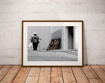 "San Francisco Street Art Photography, Banksy, California, Street Life, Fine Art Photography, 20 cm x 30 cm, 8"" x 12"""