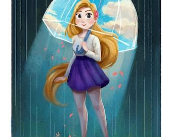 Sunshine Umbrella Giclée Art Print
