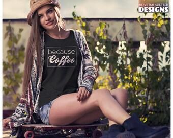 Coffee shirt/ coffee lover/ coffee addict/ coffee fan/ coffee drinker/ birthday gift/ teacher gift/ christmas gift/  Women's fit tee