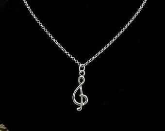 Music note pendant, Treble clef, piano jewelry, Note key charm, music charm, music gift, keyboard charm, music teacher gift