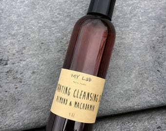 Hydrating Cleansing Oil, Almond Macadamia Nut Oil, Make-up Remover, Cleanser, Anti-aging, softening, Handmade, Dry/Aged Skin, Hazelnut scent