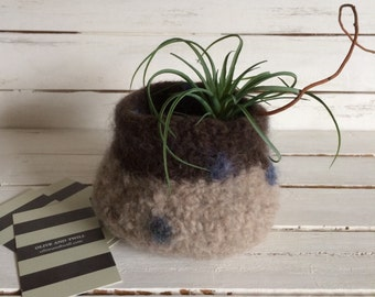 Funky handmade wool bowl.