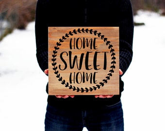 Home Sweet Home Sign, Rustic Home Decor, Farmhouse Home Decor, Wall Art, Rustic Home Sweet Home Sign, Home Decor, Wood Sign, Wall Decor
