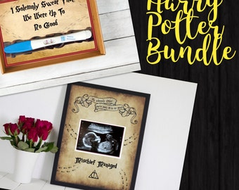 Harry Potter Bundle - Pregnancy Test and Sonogram Announcements - Instant Download