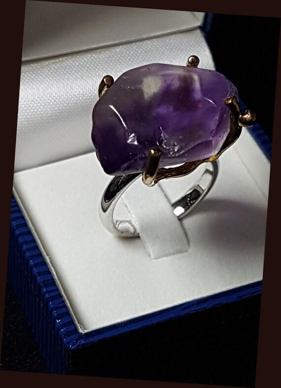 Genuine Amethyst 925 Sterling Silver Ring