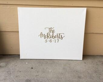 Wedding Canvas | Wedding Guest Book | Guest Book Sign | Custom Canvas | Wedding Sign | Wedding Welcome Sign