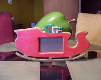 Santas Sleigh picture frame
