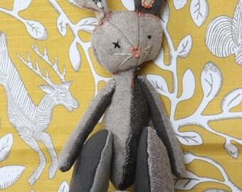 Made to Order Handmade Plush Bunny Rabbit Stuffed Animal Toy