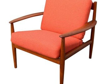 Vintage Danish Modern Teak Lounge Chair by Grete Jalk for France & Søn