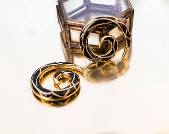 Spirale laiton avec résine écarteur poids tunnel plugs - Brass with resin inlay