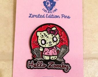 Hello Zomby Limited Edition Enamel Pin Sanrio Hello Kitty Cute Parody