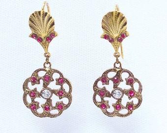 Rai-Italian Vintage Jewelry, Swarovski Crystal, Rose