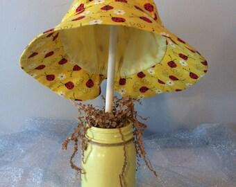 Infant sun hat, baby toddler sunbonnet, baby gift