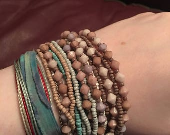 Thick Beaded Wrap Bracelet