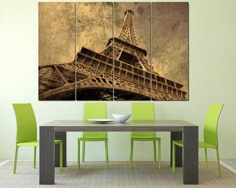 Large Eiffel Tower decoration wall art, Eiffel Tower Paris photography home decor, Eiffel Tower print on canvas, Paris wall decor