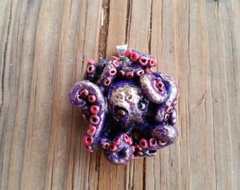 SALE! Purple OctoPendant - Steampunk octopus