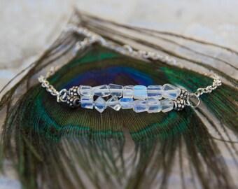 Bracelet with Opalite, silver bracelet with Opaliet, Birthday gift for her, gift for her, gift for bridesmates, gemstone bracelet, Custom