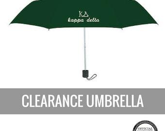 Kappa Delta Umbrella . Green Kappa Delta Logo . Sale . Ready to Ship . Limited Supply