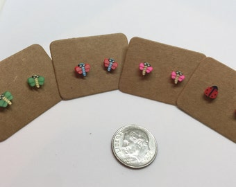 Hypoallergenic Dragonfly plastic post earrings *Perfect for toddler/small/sensitive ears*