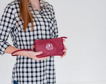Monogram Wristlet, mini Wristlet, Wristlet Purse, monogrammed gift, gift for her, gift for girls, womens gift