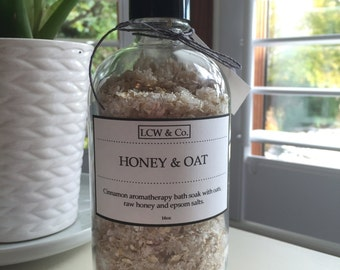 Aromatherapy Honey and Oat Bath Soak