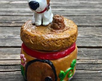 Terrier Dog House Jar