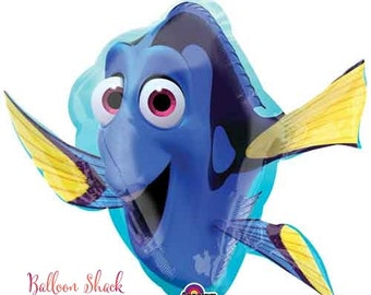 """Finding Dory Balloon-30"""" Foil Balloon- Finding Nemo Birthday Party- Dory Party Decorations"""
