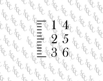 Reusable Stencil - DIY Growth Chart Ruler - Choose your Font!