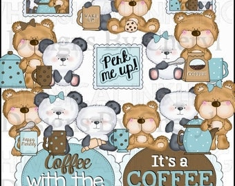 Bear Pals Coffee Date Planner Sticker clipart for small or small commercial use