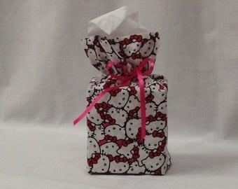 Tissue Box Cover, Tissue Box, Kleenex Box Cover, Bathroom Decor, Bathroom Accessories, Handmade, Hello Kitty, Teacher Gift, Childs Decor