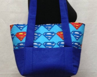 Superman Diaper Tote Bag, Diaper Bag Tote, Baby Shower Gift, Girl Diaper Bag, Diaper Bag, Baby Diaper Bag, Small Diaper Bag, Baby Gift, Supe