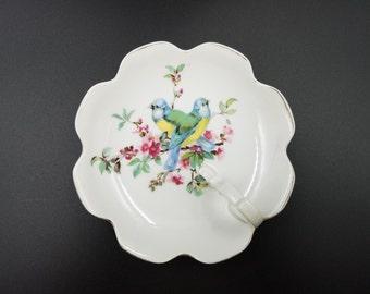 Royal Crown (Japan) Lemon Dish ~ Birds & Flowers ~ Nappy Dish
