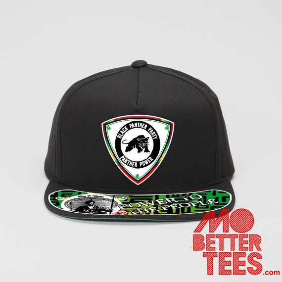 Black Panther Party Hat Snapback Power To The People Malcolm X Huey P. Newton