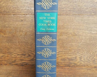 Vintage New York Times Cookbook- 1960's- Large Hardcover Cookbook- Craig Claiborne- Illustrated- 1961- Old Cookbooks, Kitchen Decor