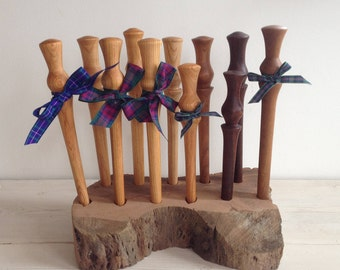 Spurtle, Scottish spurtle, wooden spurtle, handmade spurtle, wedding gift, thistle, stirrer, wand, porridge, cherry, elm, scotland, wood