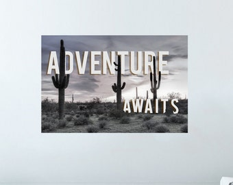 Adventure Awaits | Quote Print | Decal Quote | Quote Decor | Quote Art | Quote Decal | Wall Decal | Wall Art | Wall Quote | Wall Quote Decal