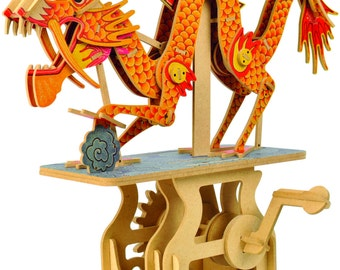 Dragon in the Cloud - an automata kit for you to build LMS 100