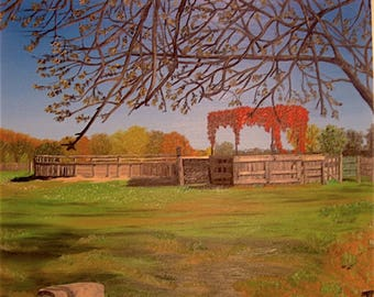 The small camargue Ranch, oil on canvas.