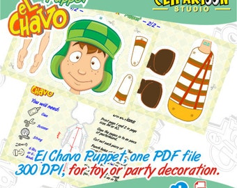 El Chavo Paper Puppet, for toy or party decoration