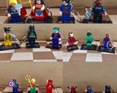 Lego Superhero keychain Lego Superhero keyring Lego Marvel keyring DC Lego keyring item 494 by CraftyLittleMonkeyGB