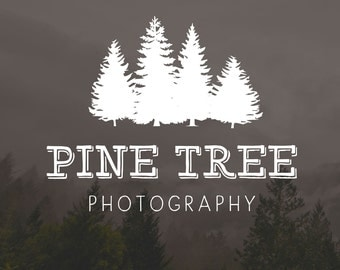 Tree Logo | Photography Tree Logo | Rustic Logo and Watermark | Nature Logo | Forest Premade Logo | Forest Watermark Design