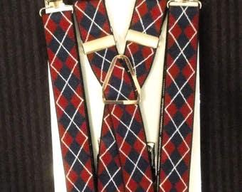 "1"" Argyle Suspenders"