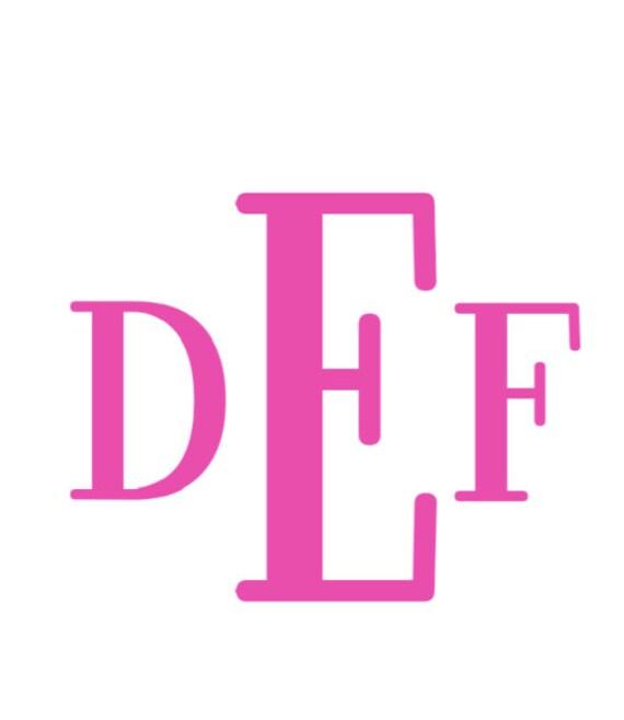 Download Block Monogram Alphabet font SVG DXF Cut Files Instant
