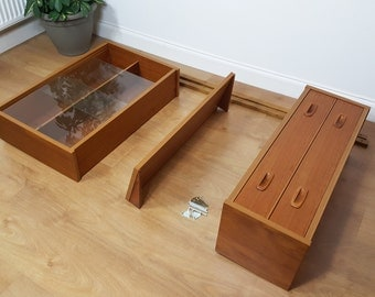 SOLD  Wall Unit PS System - Drawers Shelving - Danish Mid Century Retro