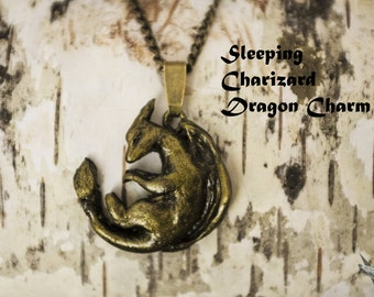 Sleeping Charizard Dragon Necklace