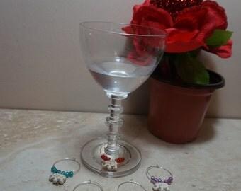 wine glass charms, wine charms, elephant wine glass charms, champagne glass charms, champagne charms, elephant charms, identification charms